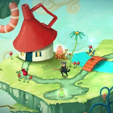 Les joueurs traversent des niveaux colorés sur fond de musique joyeuse