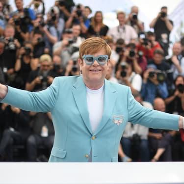 """Elton John au photocall pour le film """"Rocketman"""" au 72ème Festival de Cannes, le 16 mai 2019."""