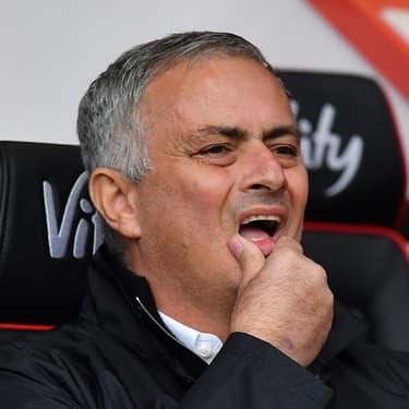 José Mourinho, alors entraîneur de Manchester United, lors d'un déplacement à Bournemouth, le 3 novembre 2018