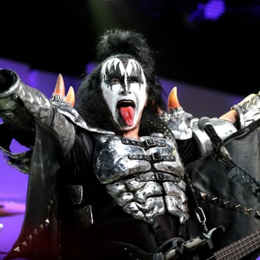 Gene Simmons de Kiss lors d'un concert à Beverly Hills le 15 avril 2016.