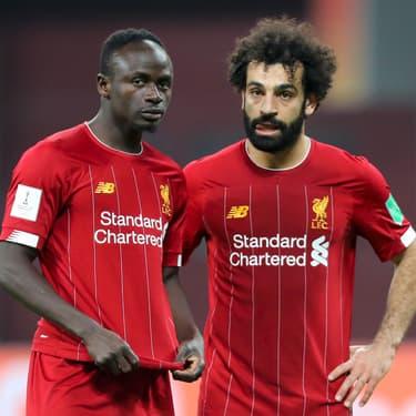 Mané et Salah durant la demi-finale de la coupe du monde des clubs à Doha, au Qatar, le 18 décembre 2019