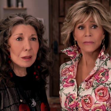 "Lily Tomlin et Jane Fonda dans ""Grace et Frankie""."