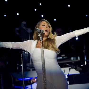 Mariah Carey lors de la cérémonie du National Christmas Tree Lighting, en 2013.