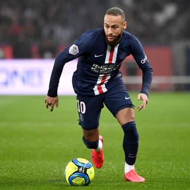Neymar en action lors du match de Ligue 1 contre Bordeaux, le 23 février 2020 au Parc des Princes