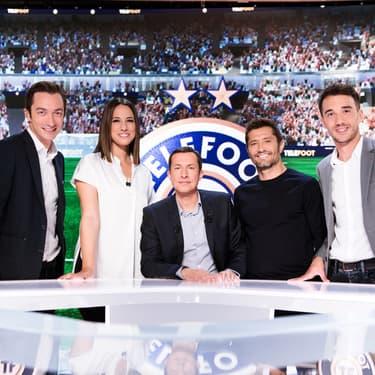 Grégoire Margotton et son équipe de consultants de Téléfoot, diffusé depuis plus de 40 ans sur TF1.