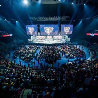 La demi-finale du mondial 2019 de League of Legends en Espagne.