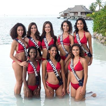 Les candidates lors du voyage de préparation à l'élection de Miss France.