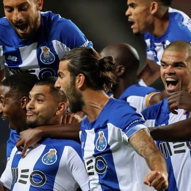 Les joueurs du FC Porto lors de la victoire contre Maritimo, le 10 juin 2020 à Porto