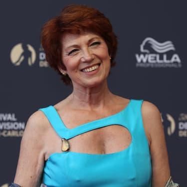 Véronique Genest sur le tapis rouge du Festival de la télévision de Monte Carlo, en 2018.