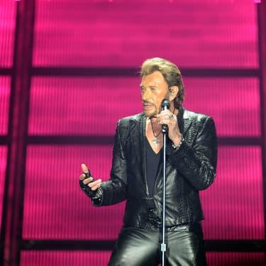 Johnny Hallyday lors d'un concert donné à Bordeaux, le 2 juin 2013
