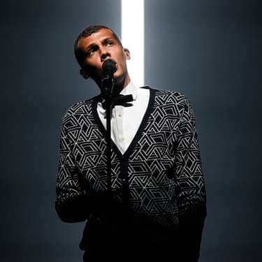 Stromae sur la scène du Madison Square Garden, à New York, le 1er octobre 2015.