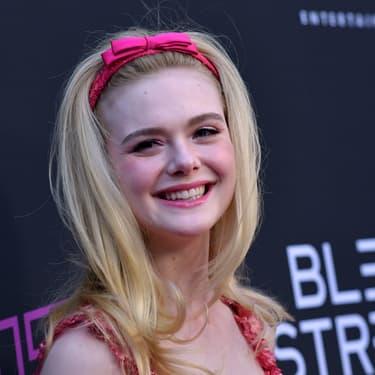L'actrice américaine Elle Fanning, à Los Angeles, pour la projection spéciale du film Teen Spirit, en avril 2019, à Hollywood.