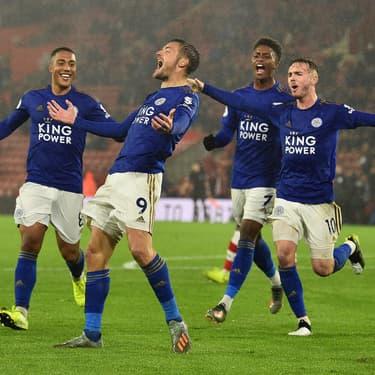 Jamie Vardy et ses coéquipiers de Leicester lors de la démonstration à Southampton (victoire 9-0) le 25 octobre 2019