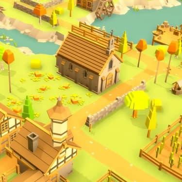 Le petit monde de Pocket Build, jeu mobile développé par Moon Bear.