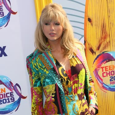 Taylor Swift lors des Teen Choice Awards à Hermosa Beach en Californie, le 11 août 2019.