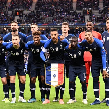L'équipe de France de football avant le match de qualification pour l'Euro 2020 face à la Moldavie, le 14 novembre 2019