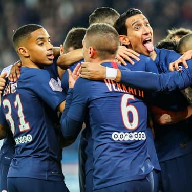 Le PSG lors de sa rencontre face à l'OM en Ligue 1.