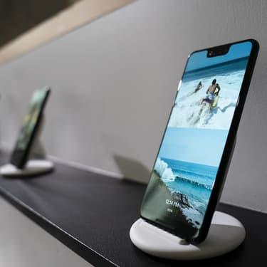 Le Google Pixel 3 XL, présenté officiellement à New York, le 9 octobre 2018.
