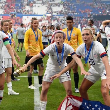 Les joueuses américaines remportent la coupe du monde de football le 7 juillet 2019.