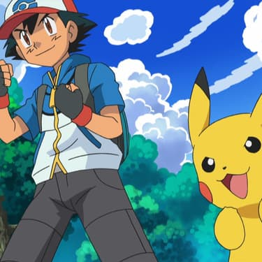 Sacha et Pikachu, dans la saison 14 de Pokémon diffusée en France sur M6.