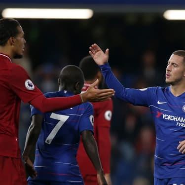 Le hollandais Vigirl van Dijk (Liverpool) et le belge Eden Hazard (Chelsea) ont brillé cette saison
