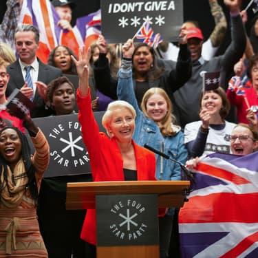 Vivian Rook (Emma Thompson), terrible politicienne de la série Years and Years.