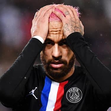 Neymar lors du match de Ligue 1 du PSG à Montpellier, le 1er février 2020