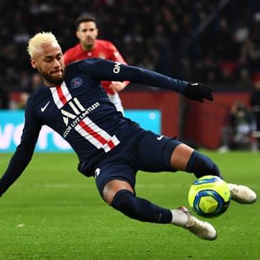 Neymar en action au Parc des Princes contre l'AS Monaco, le 12 janvier 2020