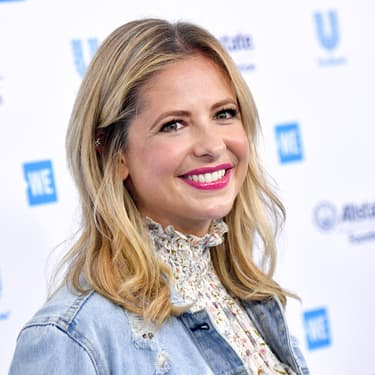 Sarah Michelle Gellard au forum WE Day California en avril 2019.
