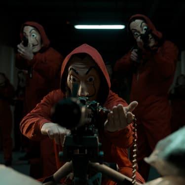 """De nouveaux personnages vont porter le masque emblématique des braqueurs de """"La Casa de Papel""""."""