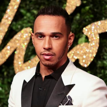 Lewis Hamilton aux British Fashion Awards à Londres, le 23 novembre 2015.