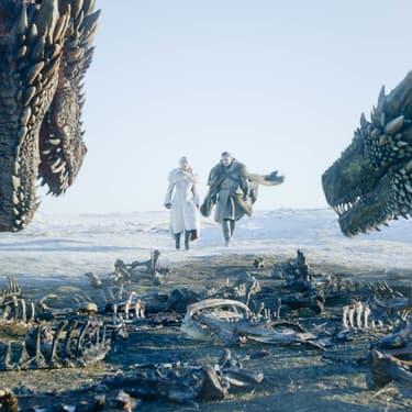 Jon Snow et Daenerys Targaryen dans Game of Thrones.