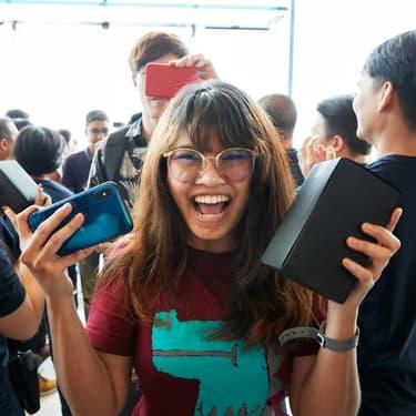L'ouverture d'un nouvel Apple Store à Bangkok, en Thaïlande en novembre 2018. Comme toujours, les clients s'y sont précipités pour découvrir les nouveautés de la firme américaine.