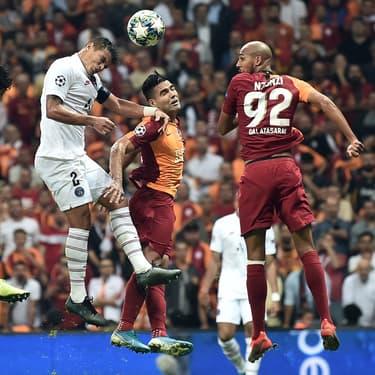 Les Parisiens face à Galatasaray lors du match aller en 2ème journée de Ligue des Champions, à Istanbul, le 1er octobre 2019.