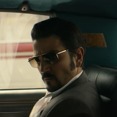 "Diego Luna, alias Félix Gallardo, alias ""Le Parrain"", dans la saison 2 de ""Narcos : Mexico""."