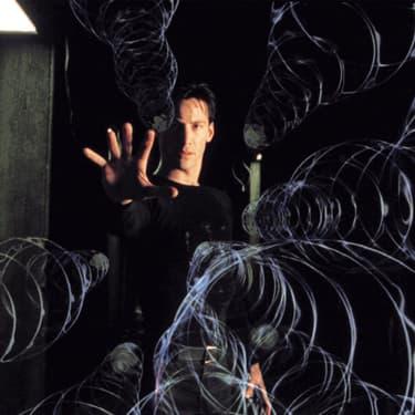 Keanu Reeves dans Matrix, film culte de 1998