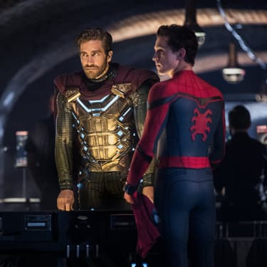 Spider-Man (Tom Holland) et son futur allié, Mysterio (Jake Gyllenhaal