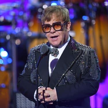 "Elton John pendant le concert hommage ""Elton John : I'm Still Standing - A GRAMMY Salute"" à New York, le 30 janvier 2018."