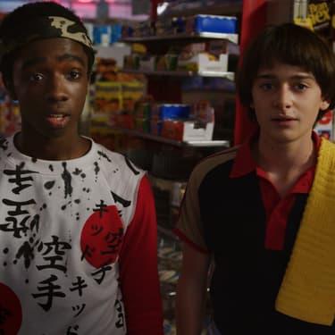 Lucas et Will dans la saison 3 de Stranger Things sur Netflix.