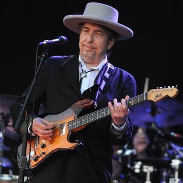 Bob Dylan lors de son concert au festival des Vieilles Charrues, le 22 juillet 2012.
