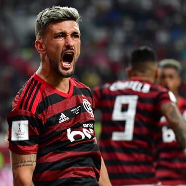 Les joueurs de Flamengo lors de leur victoire en demi-finale face à Al-Hilal, le mardi 17 décembre 2019 à Doha, au Qatar
