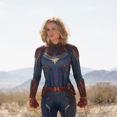 L'actrice Brie Larson dans le rôle de Carol Danvers, dans Captain Marvel.