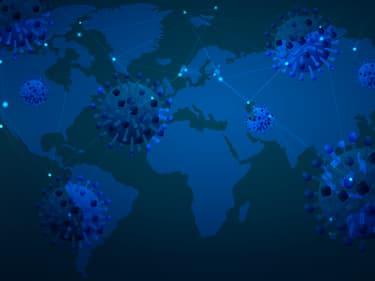 Coronavirus : une carte de suivi de la pandémie infectée par un virus