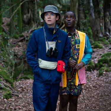 """Asa Butterfield (Otis) et Ncuti Gatwa (Eric) dans la saison 2 de """"Sex Education""""."""