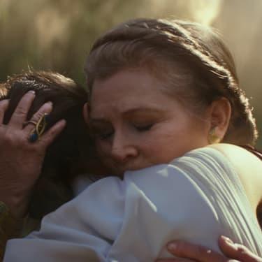 La princesse Leia et Rey dans Star Wars IX : L'Ascension de Skywalker.
