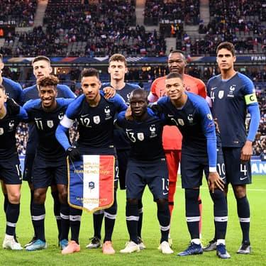 L'équipe de France avant son match face à la Moldavie(2-1), le 14 novembre 2019 au Stade de France