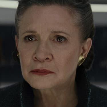 La Générale Leia Organa, incarnée par Carrie Fisher dans Star Wars : Les Derniers Jedi.