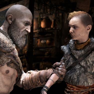 Kratos et son fils Atreus dans God of War, le jeu vidéo que Netflix pourrait adapter en série