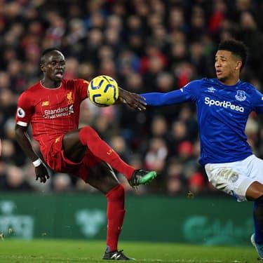 Sadio Mané contre Everton lors du match aller, le 4 décembre 2019 à Liverpool