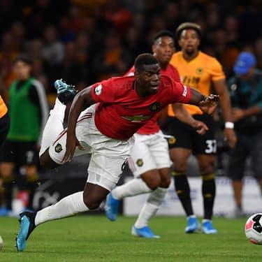 Paul Pogba lors du déplacement de Manchester United à Wolverhampton, le 19 août 2019